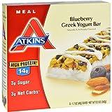 Atkins Advantage Bar - Blueberry Greek Yogurt - 5 ct - 1.7 oz - 1 Case