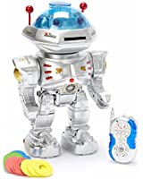 Team R/C® Radio Remote Controlled RC Dancing Robot w/ R/C Missile Disc Launcher