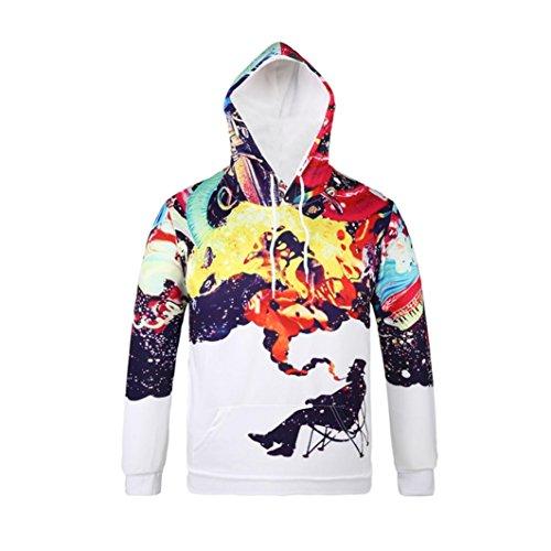 Sweatshirt Pullover Lunga Autunno Cappotto 1 Con Beauty Cappuccio 3d Hooded Top Manica Felpe Felpa 2017 Bianca Giacca Hoodie Uomo Outwear xqAq8PZY