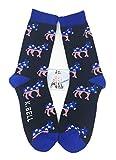 Aesthetinc Men Republican Democratic Party Elephant Donkey Cotton Socks (Democrat)