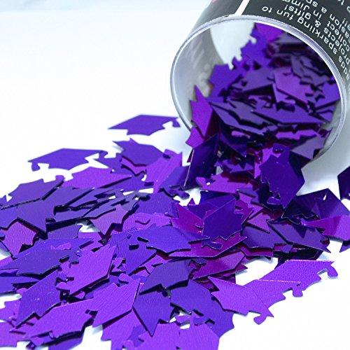 Confetti Grad Cap Purple - Retail Pack #8412 - Free Ship -