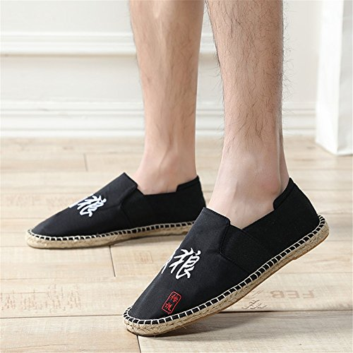 Breathable Hemp Bottom Mens Color Size Low Shoes Loafers Shoes Moccasins Canvas Top 42 Fashion New G 2018 Spring Hxqw7A0AY