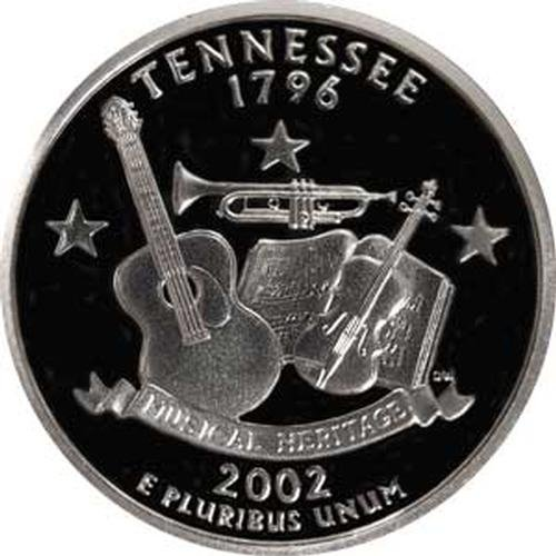 Tennessee State Gem (2002 Tennessee S Gem Proof State Quarter US Coin)