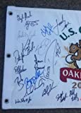 Dustin Johnson 2016 Us Open Field Signed Flag Champion Oakmont Phil Spieth U.s. - Autographed Pin Flags