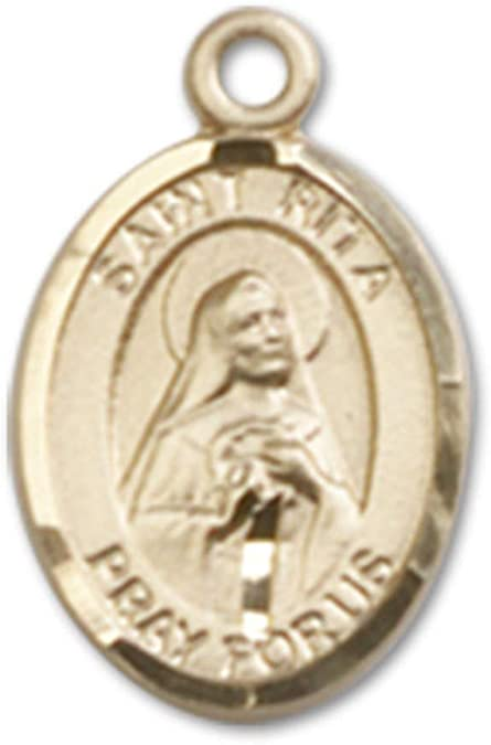 Rita of Cascia Pendant DiamondJewelryNY 14kt Gold Filled St
