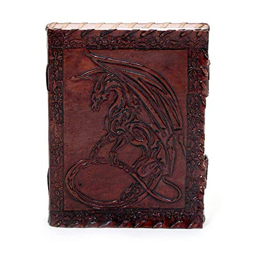 Handmade Leather Journal Notebook - Genuine Leather Bound Daily Notepad For Men & Women Paper