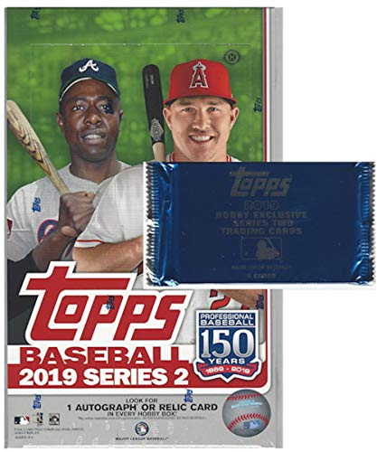 Topps Mlb Box - 2019 Topps Series 2 MLB Baseball HOBBY box (36 pk, 1 bonus pack)