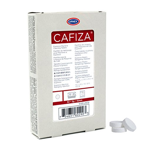 Urnex Cafiza Espresso Machine Cleaner Tablets, Blister Pack (32, 2g tablets) by Urnex