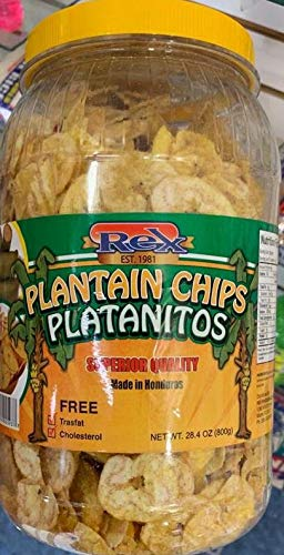Rex Plantain Chips Platanitos 28.4 Oz (1 bottle)