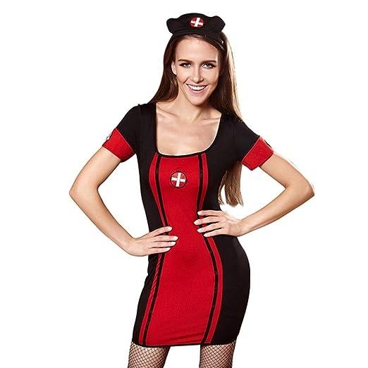 K-Fang, Botón de Mujer Traje de Enfermera Sexy Babydoll ...