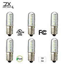 ZX Mini E14 3W 4W LED Spotlight Corn Pendant Fridge Refrigerator Light Crystal Chandelier Bulb 220V (Random: Color)