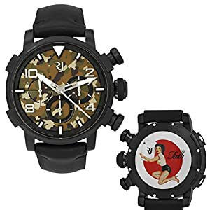 Romain Jerome Pinup DNA WWII Faith Card Chrono Auto Men Watch RJ.P.CH.002.01