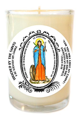 Saint Christina Patron of Healing Mental Illness 8 Oz Scented Soy Prayer Candle by Touched By The Saints