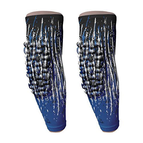 B-Driven Sports | Padded Knee & Arm Compression Athletic Sleeves | Durable Protective Pads | Moisture Wicking | Professional Athlete Quality | Great for Youth, Men & Women Athletes | 2 Sleeves