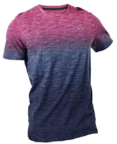 Hollister Men's Slim Fit Ombre T-Shirt T-Shirt, XL, Pink Ombre