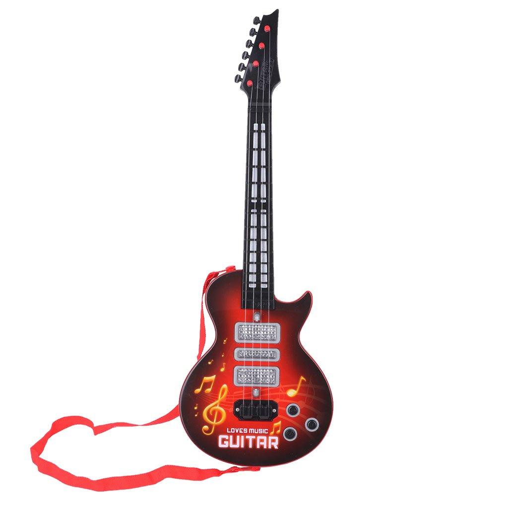 ZJL220 Música Guitarra Eléctrica 4 Cuerdas Instrumento Musical Juguete Educativo Regalo de Juguete para Niños Amarillo: Amazon.es: Hogar