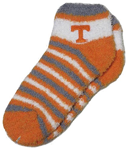Tennessee Volunteers Vols NCAA Women's Fuzzy Sleep Soft Stripes Socks - Medium