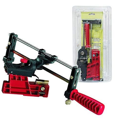 Bar File - PROMOTOR Bar-Mount Chain Saw Sharpener, Manual Chainsaw Sharpening Filing Guide Bar
