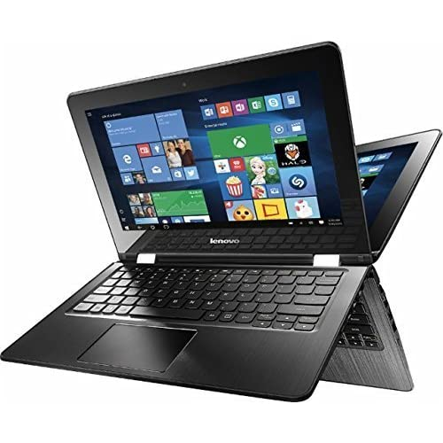 Image of 2016 Lenovo 2-in-1 11.6' HD Touchscreen Laptop, Intel Celeron Dual-Core Processor, 2GB RAM, 64GB SSD, Intel HD Graphics 400, WIFI-AC, Webcam, HDMI, Bluetooth, Windows 10, Black Electronics