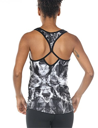 icyzone Workout Yoga Fitness Sports Racerback Tank Tops For Women (S, Lightning) Lightning Dry Short