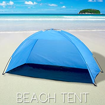 Portable Pop Up Cabana Beach Shelter Infant Sand Tent Sun Shade Outdoor UV & Amazon.com: Portable Pop Up Cabana Beach Shelter Infant Sand Tent ...