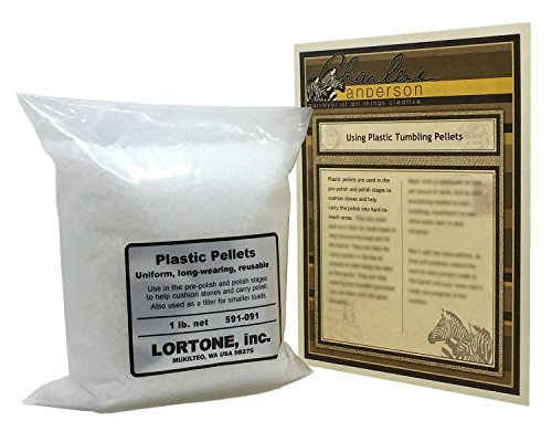 Lortone 591-091 Plastic Pellets for Rock Tumbling & Rock Polishing with Tumbling Article by Jewelry Artist Charlene Anderson (1)