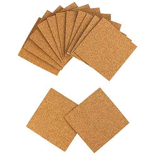 80 Pack SelfAdhesive Cork Squares 4quot x 4quot Cork CoastersCork TilesCork Backing SheetsCork Mats for DIY Crafts by Leebuty