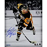 Carl Hagelin Autographed Penguins Slapshot Spotlight 8 Inches By 10 Inches Photo