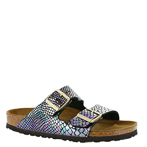 - Birkenstock Women's Arizona  Birko-Flo Shiny Snake Black Multi Birko-flor Sandals - 5-5.5 2A(N) US Women