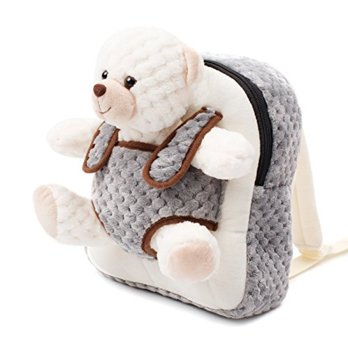Cute Toy Toddler Backpack – Kids Stuffed Animal Toy Backpack – Kids Backpacks for Boys and Girls with Plush Toy ()