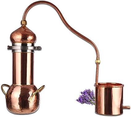 YZXZM 3 litros De Cobre Destilador Rocío Flor Pura Máquina ...