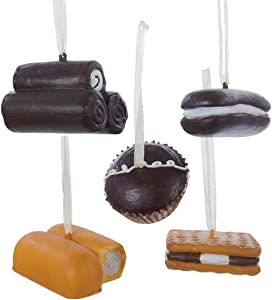 The Bridge Collection Dessert Cakes & Pies Novelty Ornament Set, 5 Assorted