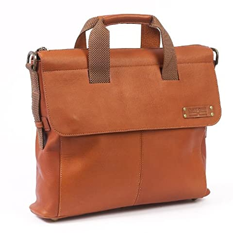 Claire Chase Ipad Messenger, Saddle, One Size - Claire Chase Leather Messenger