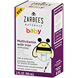 Zarbee's Naturals Baby Multivitamin with Iron, Vitamins...