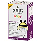 Zarbee's Naturals Baby Multivitamin with Iron, Vitamins A, C, D,...