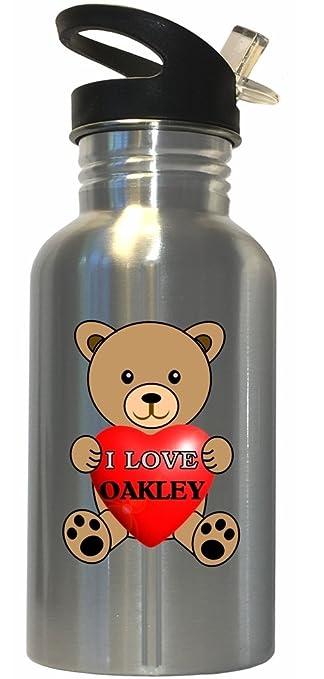 Amazon.com: I Love Oakley Botella de agua de acero ...