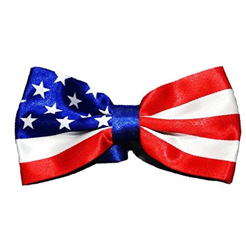 American Flag Design Men's Bow Tie Handmade USA Patriotic Bow-tie