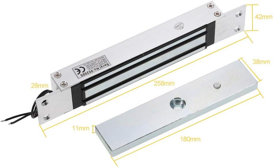 OWSOO Serratura Magnetica Elettromagnetica Ad Una Porta 180Kg Serrature Elettromagnetiche Sistema di Blocco Porta di Controllo di Accesso Chiusura A Scomparsa