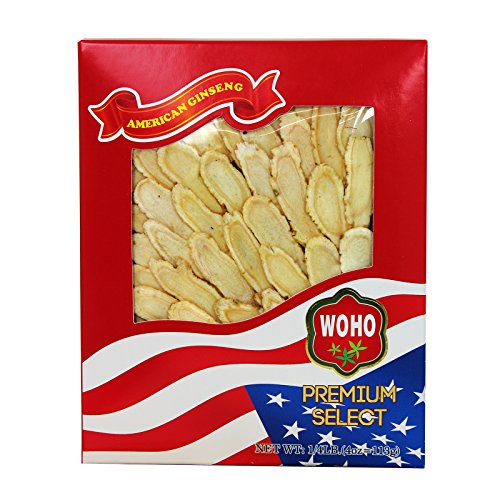 WOHO #127.4 American Ginseng Slice Large 4oz Box