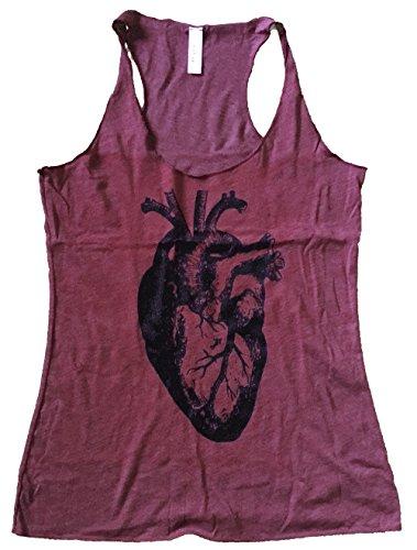 Oak Tank - Friendly Oak Women's Anatomical Heart Tank top - S - Cranberry