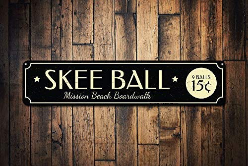 HarrodxBOX Skee Ball Sign Boardwalk - Cartel de ubicación ...