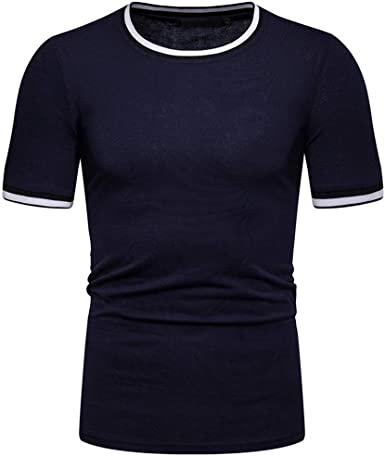 Mr.Macy Mens Fashion Summer Solid T Shirt Leaf Short Sleeve Tops Casual Open Shirts