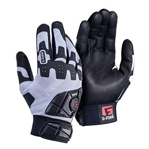 Away Adult Batting Glove - G-Form Baseball/Softball Batting Gloves - White - Adult Small(1 pair)