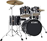 Tama Imperialstar 5-Piece Complete Drum Set with Meinl HCS Cymbals and 18 in. Bass Drum Hairline Black