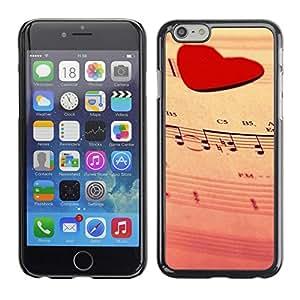 Be Good Phone Accessory // Dura Cáscara cubierta Protectora Caso Carcasa Funda de Protección para Apple Iphone 6 Plus 5.5 // Love Music Heart
