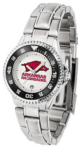 Arkansas Razorbacks Ladies Sport Watch - Linkswalker Ladies Arkansas Razorbacks Competitor Ladies Steel Watch