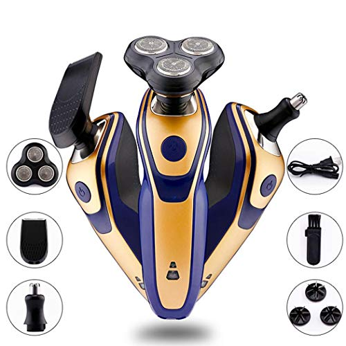Loveje Beard Trimmer Kit Men Cordless Beard Trimmer Wet Dry Rotary Shaver for Nose Ear Grooming Trimmer Kit Body Grommer ortable Washable Rechargeable All-in-One (1 Set)