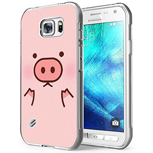 Price comparison product image S6 Active Case Pig,Samsung Galaxy S6 Active Case W Cute Pink Pig Head