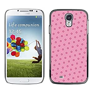 Plastic Shell Protective Case Cover    Samsung Galaxy S4 I9500    Pink Red Vintage Wallpaper @XPTECH