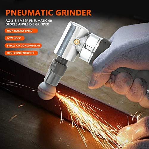 DealMux Smerigliatrice pneumatica per smerigliatrice angolare pneumatica AG-315 1 4BSP a 90 gradi